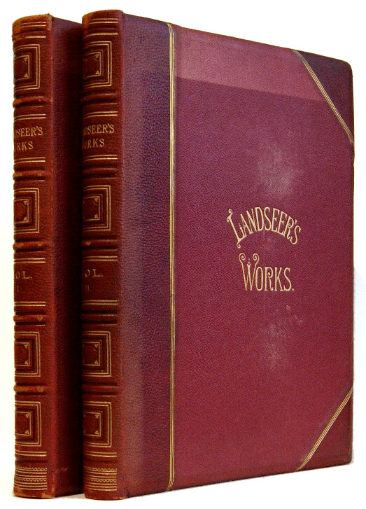 The works of Sir Edwin Landseer, R.A. Illustrated by Forty-Four Steel Engravings and about 200 Woodcuts [2 volumes]. Edwin Henry Landseer, W. Cosmo Monkhouse.