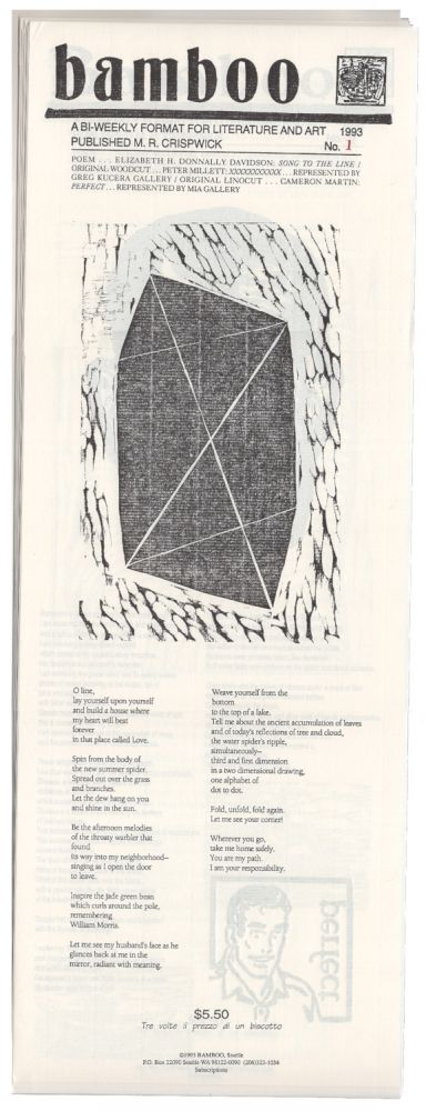 BAMBOO: A Bi-Weekly Format For Literature And Art. Nos. 1-26. M. R. Crispwick, publisher, Scott Smith.