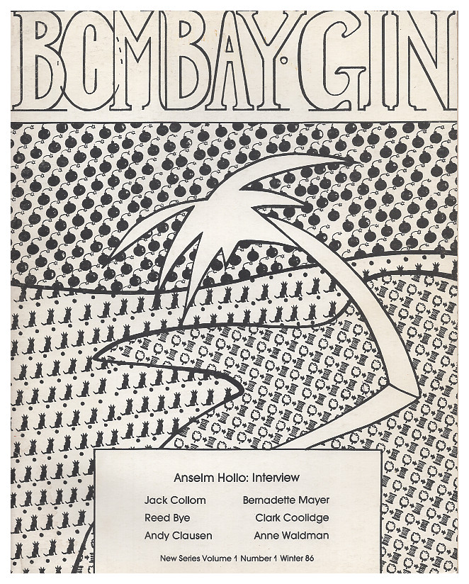 Bombay Gin: New Series Volume 1, Number 1 - Winter 1986. Andy Hoffmann.