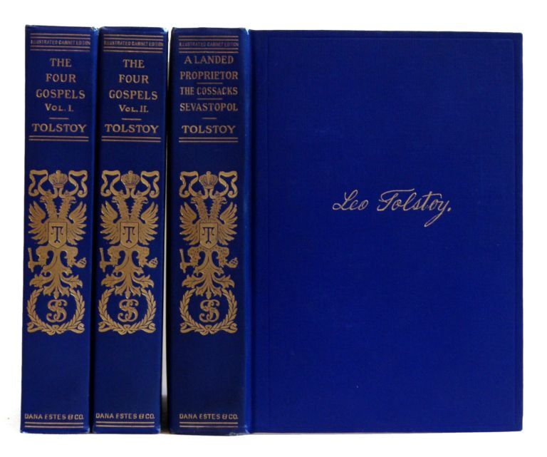 The Four Gospels Harmonized and Translated [2 volumes]. Lev N. Tolstoy, Leo Wiener.