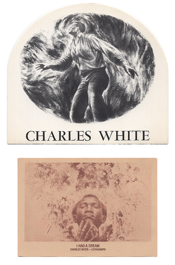 Archive of Museum and Gallery Posters, Invitations, Announcements, and a Group of Manuscript Sales Records. Charles White.