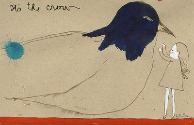 """""""It's the Crow!"""" Tweedledum Cried Out : Sketch for Through the Looking Glass and What Alice Found There. DeLoss McGraw, Lewis Carroll."""