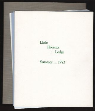 Little Phoenix Lodge: Summer... 1973