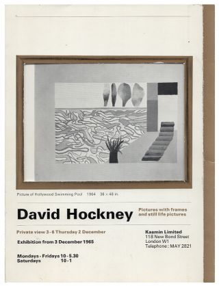 David Hockney. Pictures with frames and still life Pictures. David Hockney