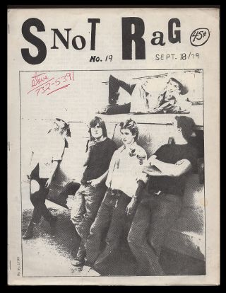 Snot Rag No. 19 September 23 1979