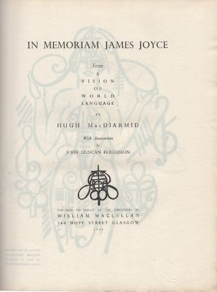 "In Memoriam James Joyce: From ""A Vision Of World Language"