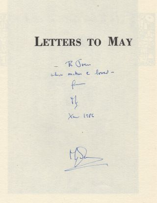 Letters to May 1878-1950 [with Autograph Letter and card]