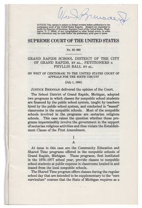 U.S. Reports: Grand Rapids School District v. Ball, 473 U.S. 373. 1984. William J. Brennan,...