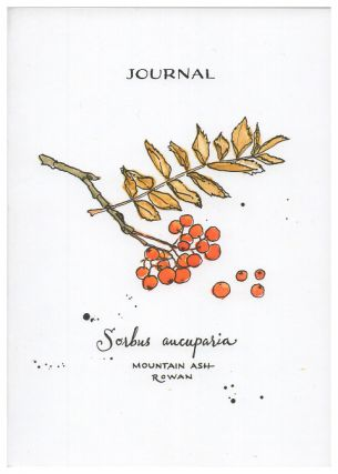 Blank Journal - Mountain Ash-Rowan Botanical Cover Art