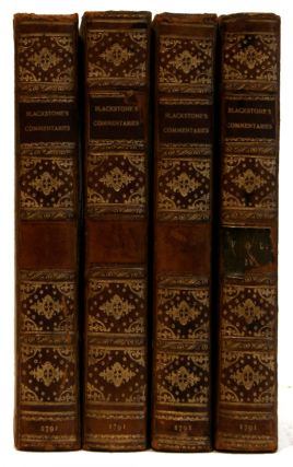 Commentaries on the Laws of England [4 volumes]
