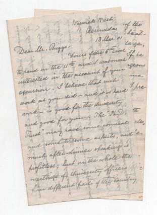 Autograph Letter Signed from Charles W. Eliot to LeBaron Russell Briggs on Leadership. Charles W....