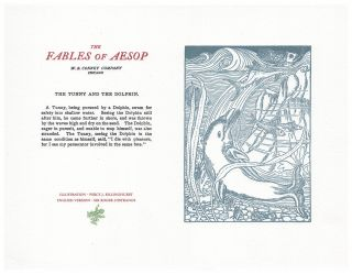 The Fables of Aesop: The Tunny and The Dolphin. Aesop English, Sir Roger L'Estrange