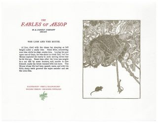 The Fables of Aesop: The Lion and The Mouse. Aesop English, Sir Roger L'Estrange