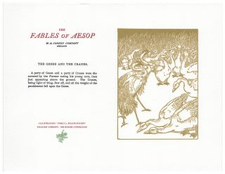 The Fables of Aesop: The Geese and The Crane. Aesop English, Sir Roger L'Estrange