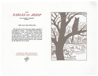 The Fables of Aesop: The Cat and The Fox. Aesop English, Sir Roger L'Estrange
