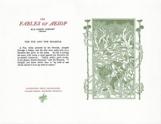 The Fables of Aesop: The Fox and The Bramble. Aesop English, Sir Roger L'Estrange