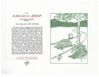 The Fables of Aesop: The Hare and The Tortoise. Aesop English, Sir Roger L'Estrange
