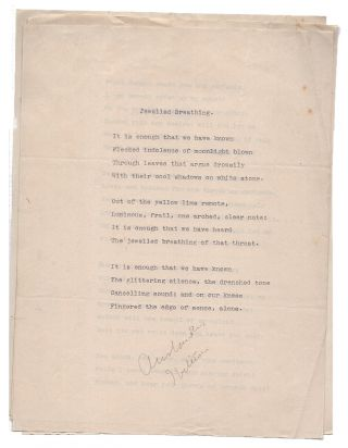 "Small Archive of Typed Manuscript Poems and a Review of ""Sunrise Tumpets"" By LeBaron Russell..."