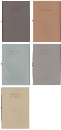5 Chapbooks: What Is Art; Holy Order; The Untold; Equinox; and The Attendant. William Bronk