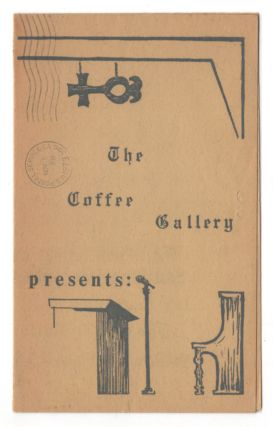 Coffee Gallery Event Broadsheet - Poet's Gallery For October-November 1973