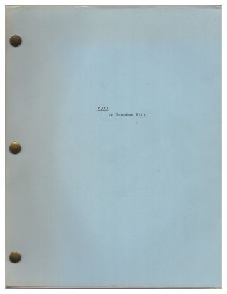 Cujo First Draft Screenplay / Script. Stephen King