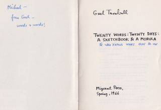 Twenty Words: Twenty Days: A Sketchbook & A Morula