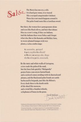 Minnesota Center For Book Arts Broadside Suite; Published In Conjunction With The Loft Mentor Series 1988-1989