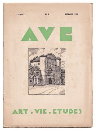 A.V.E: Art. Vie. Etudes: Revue mensuelle reservee au corps medical et Pharmaceutique Volume I,...