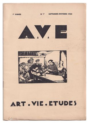 A.V.E: Art. Vie. Etudes: Revue mensuelle reservee au corps medical et Pharmaceutique. Volume I,...