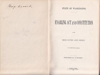 Enabling Act and Constitution, with side notes and Index