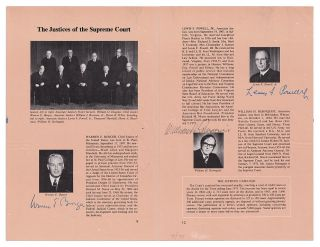 The Justices of the Supreme Court; Complete Autographs of the Burger Court from the Watergate...
