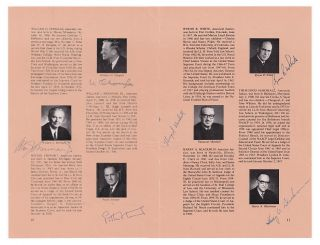 The Justices of the Supreme Court; Complete Autographs of the Burger Court from the Watergate Era, 1974