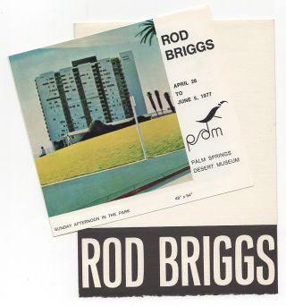 Rod Briggs Exhibit Poster and Invitation Archive