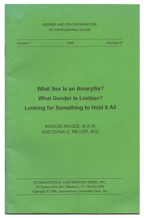 Gender and Psychoanalysis: An Interdisciplinary Journal. Volume 1, Number 2. Maggie Magee, Diana...