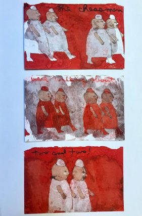 Chessmen Triptych : The Chessmen Were Walking Two and Two : Sketch for Through the Looking Glass...