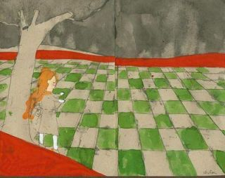 Chess-board Diptych: I Declare it's Marked Out Just Like a Large Chess-board : Sketch for...