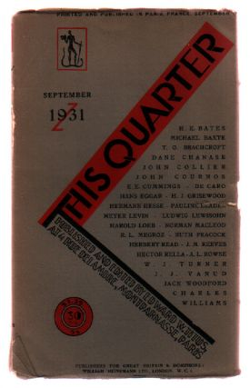 This Quarter: Volume 4, Number 1: July - August - September 1931. Edward W. Titus