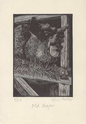 "A Suite of Eight Wood Engravings Based on George Orwell's Novel ""Animal Farm"" Eric Holter"