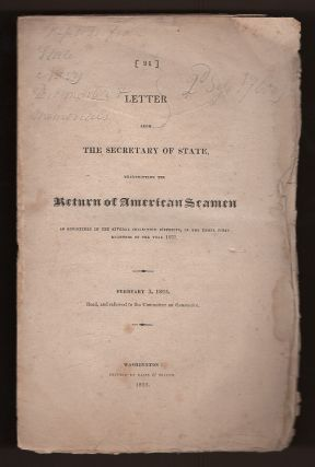 Letter from the Secretary of State, Transmitting the Return of American Seamen as Registered in...